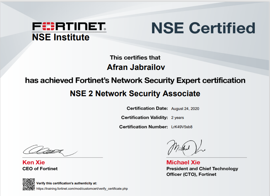 NSE Certified